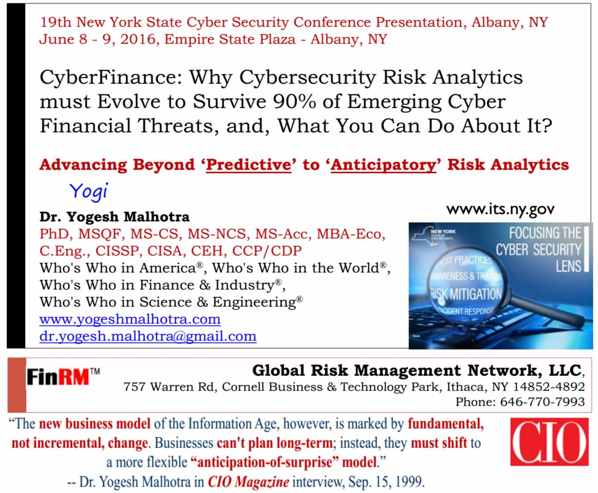 2016 New York State CyberSecurity Conference