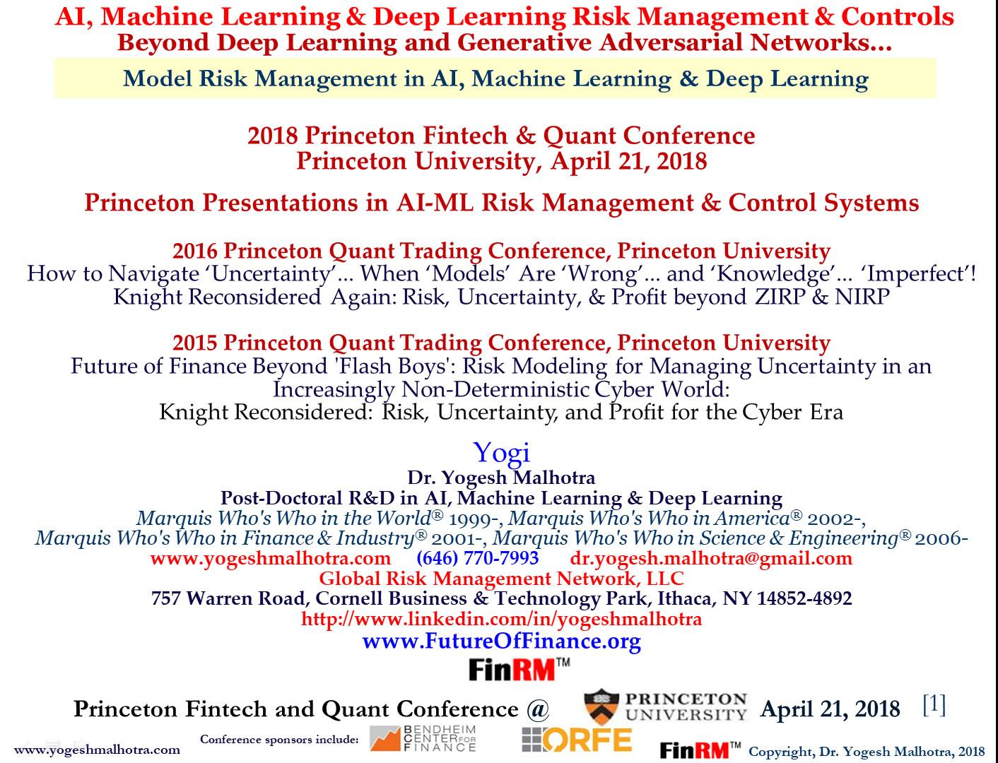 2018 Princeton FinTech & Quant Conference