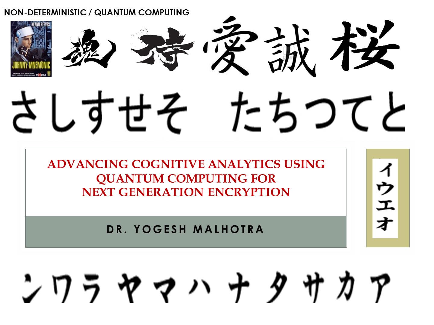 Cognitive Analytics & Cryptanalytic Algorithms for Quantum Computing & Quantum Biology