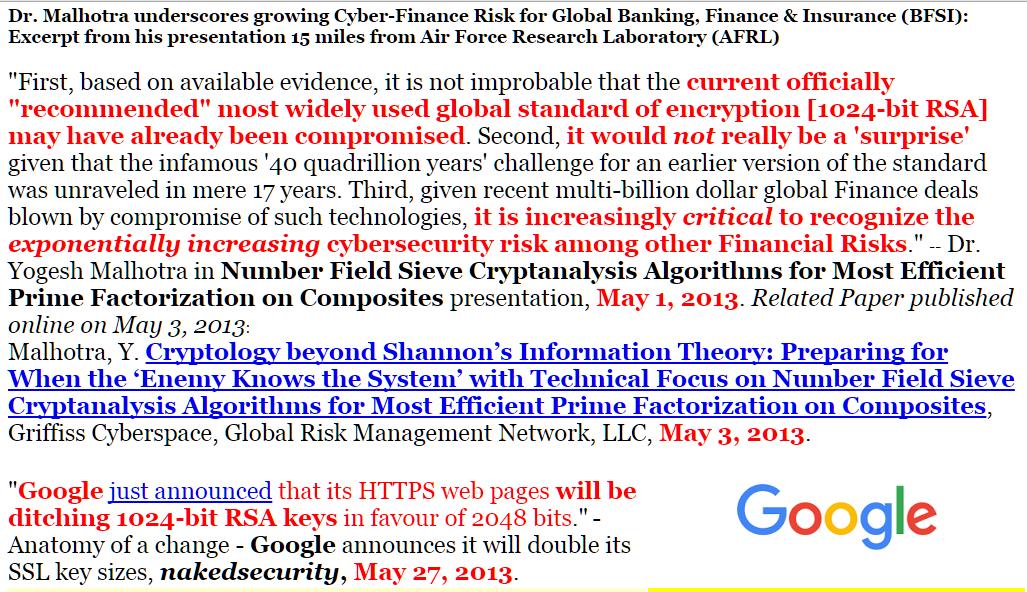 Cryptanalytic Algorithms and Quantum Computing