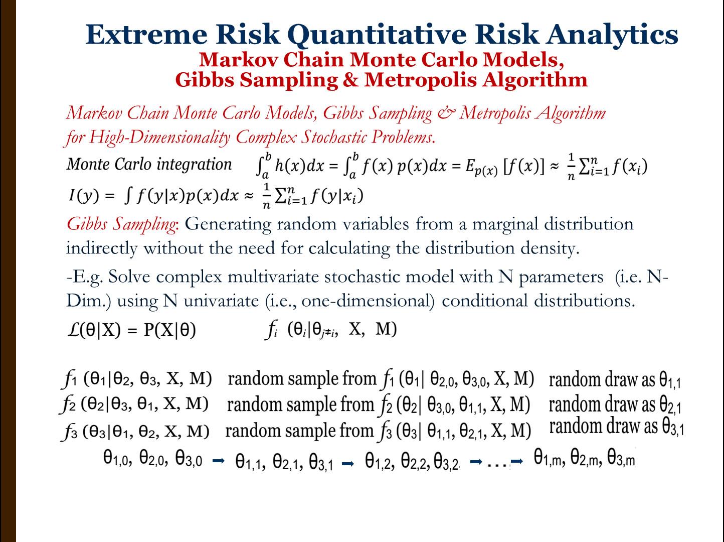 Markov Chain Monte Carlo Models, Gibbs Sampling, and, Metropolis-Hastings Algorithms
