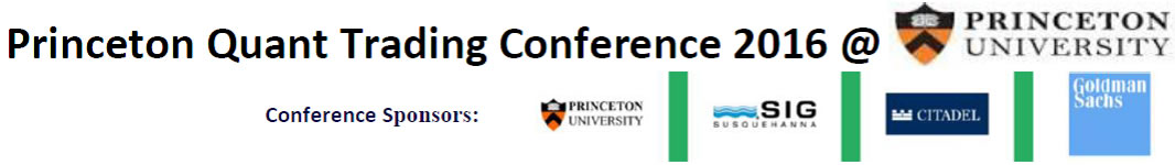 Princeton Quant Trading Conference 2016