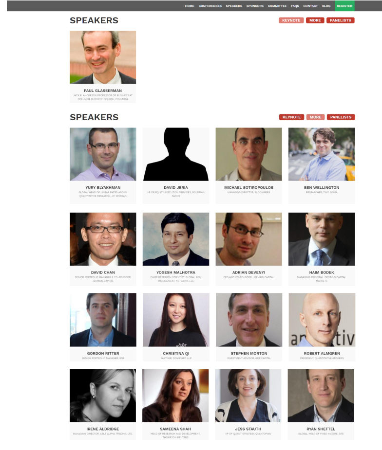 2016 Princeton Quant Trading Conference